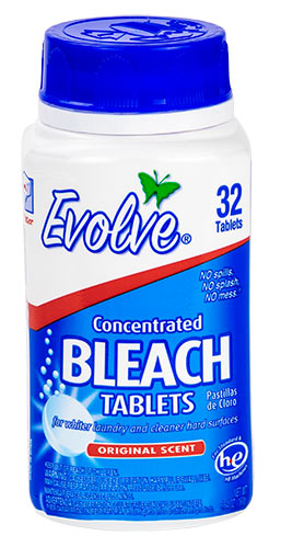 Evolve Ultra-Concentrated Bleach Tables, Original Scent (32 count)